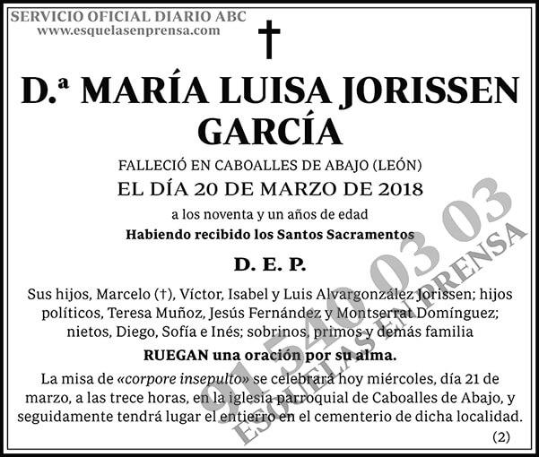 María Luisa Jorissen García